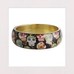 Jewelry - 🔵 2 for $20 | Black Sugar Skull Bangle Bracelet